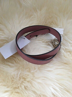 NWT 100% AUTH Gucci Girl's Violet Vernice Belt 258395 $170