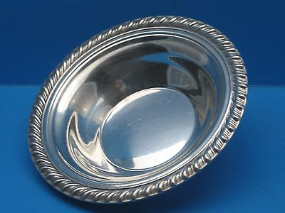 """Vintage William. ROGERS # 848 Silver Plated DISH 6-1/2"""" Round Rope Design Edge"""