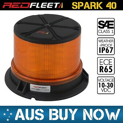 Amber Yellow Orange Led Beacon Light Flashing Rotating Strobe Britax Ecco Truck
