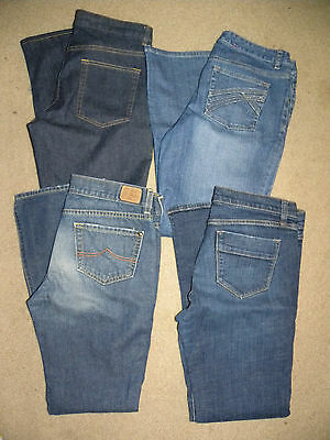 womens 4 pairs of mixed jeans lot sz.8P,8R,8L(old navy,banana rep,liz claiborne)
