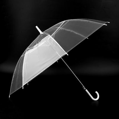 Transparent Umbrella Large Clear Dome Scrub Parasol Sun Rain Ladies Walking UA