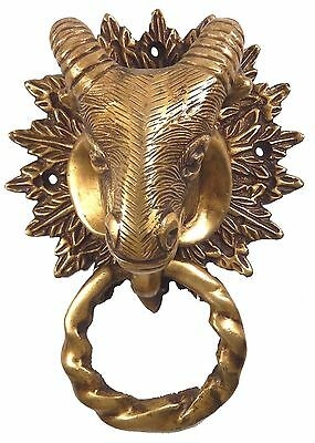 Sheep Head Design Handmade Antique Vintage Style Brass Door Knocker Home Decor