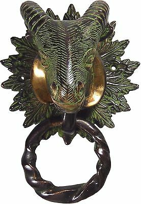Sheep Head Antique Vintage Style Handmade Brass Door Knocker Home Decor