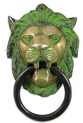 Lion Design Antique Vintage Style Fancy Door Knocker Solid Brass Home Decor