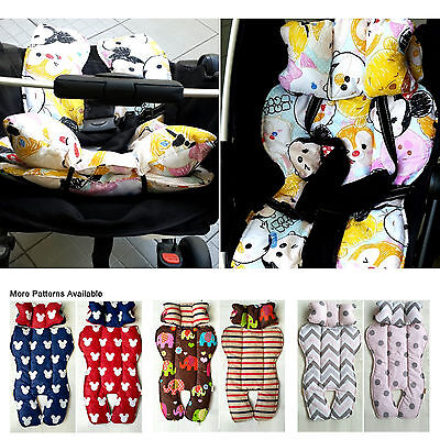 Universal Reversible Stroller Pad Pram Car Seat Liner Padding Plush Head Support