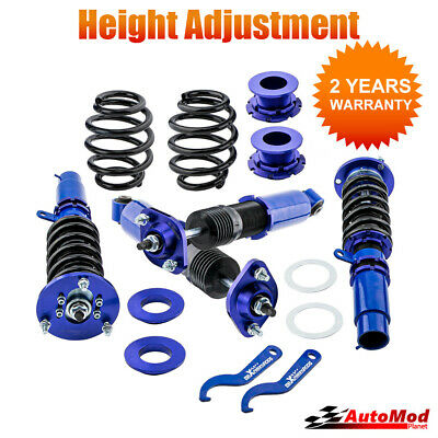 Coilover for BMW E46 Adjust Suspension Kit Front And Rear Top Mounts Shocks