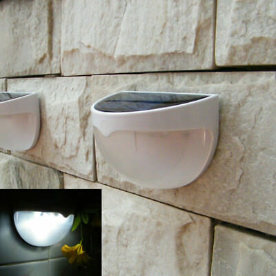 AU 6 LED Waterproof Solar Sensor Outdoor Garden Landscape Walkway Wall Lights