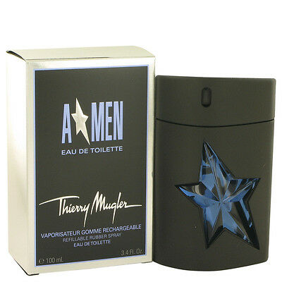 A MEN - THIERRY MUGLER - EDT RECHARGEABLE - FLACON GOMME de 100ml NEUF / BLISTER