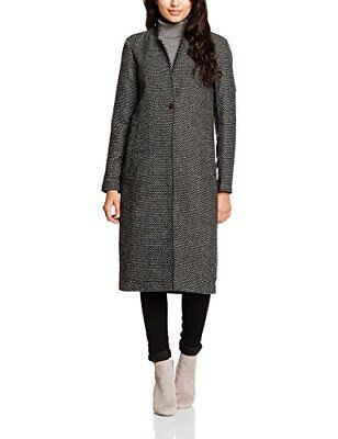 ONLY onlALLY LONG JACQUARD COAT OTW, Giubbotto Donna, Multicolore (Black), 38 (T