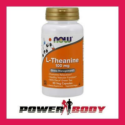 NOW Foods - L-Theanine, 100mg with Green Tea - 90 vcaps