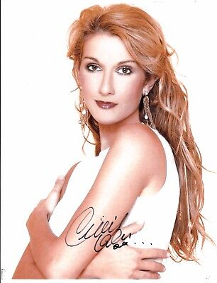 Celine Dion Hand Signed Autograph Photo With Coa 8X10 #112