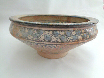 ANTIQUE ISLAMIC PERSIAN KASHAN 12th C POTTERY BOWL PLATE. SALE!!!