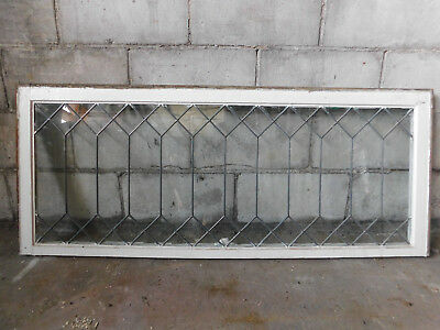 Antique Craftsman Style Leaded Glass Window - Circa 1905 Architectural Salvage