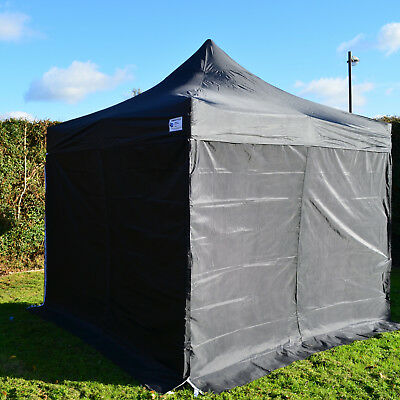 3m x 3m Black Heavy Duty SHOWSTYLE ® Commercial Grade Gazebo Market Stall Pop Up
