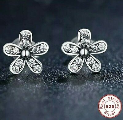 925 silver jewellery kids flower earrings with nice pouch