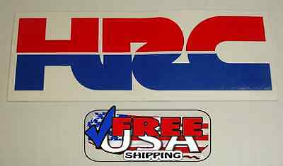 "HRC HONDA STICKER DECAL 1 1/2"" x 4"""
