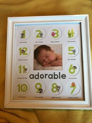 Adorable 12 Month Picture Frame