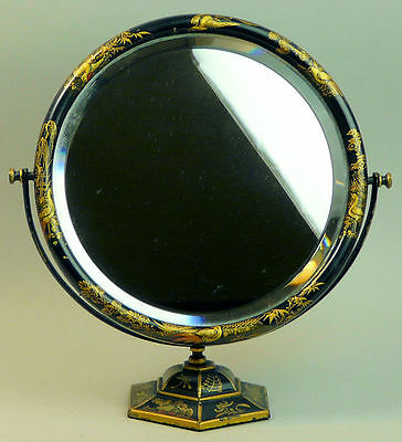 A Fine Antique Chinoiserie Decorated Dressing Table Mirror C.1900