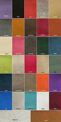 "Microfiber Suede - 8 oz Upholstery Fabric in 30 Colors 60"" Wide - BTY Microsuede"