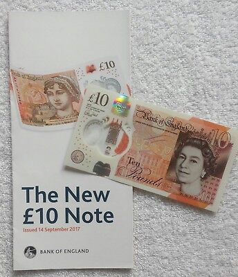 *NEW*GREAT BRITAIN / UK_10 Pounds Polymer Banknote 2017_mit Flyer / Leaflet