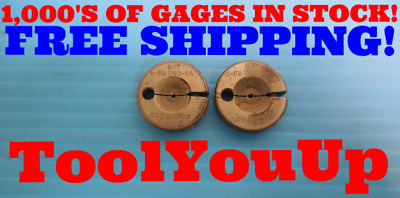.099 56 UNF 2A THREAD RING GAGES GO NO GO P.D./'S = .0867 /& .0858 WITH HOLDER