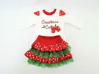 Christmas Cutie Tutu Outfit for 18'' Doll by American Fashion World new