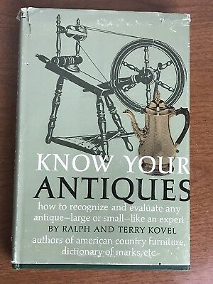 Vintage Know Your Antiques Hard Cover Book Ralph & Terry Kovel 1967 Crown