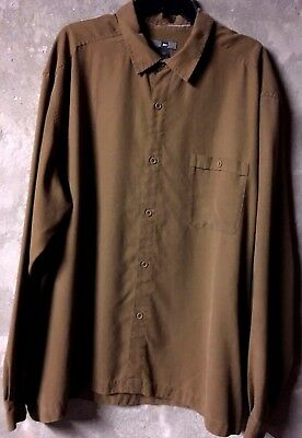 e5db7279 Men's REI Dark Olive Green Long Sleeve Button Down Shirt Great Pre-Owned XXL