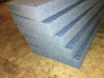 "5 Sheets - 24"" x 12"" x 2"" POLYETHYLENE PLANK FOAM, Density 1.8pcf BLUE"