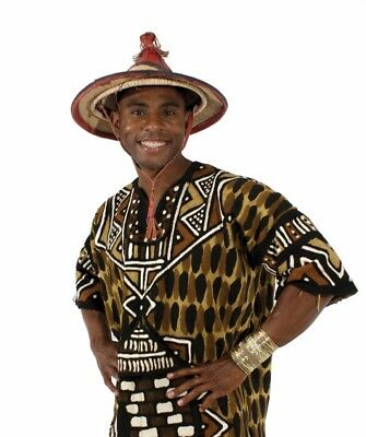 West African Woven Straw & Leather Hat - Fulani / Tuareg - Sun Protector