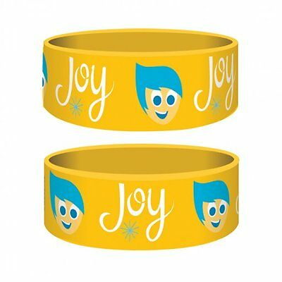 INSIDE OUT joy/yellow 2015 rubber JUNIOR WRISTBAND official merchandise DISNEY