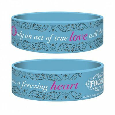 FROZEN true love/blue 2014 rubber JUNIOR WRISTBAND official merchandise DISNEY