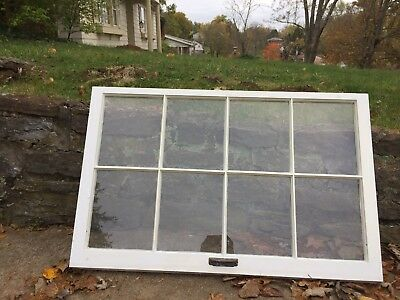 Vintage Antique Primitive old Windows Glass Wood Frames 8 pane crafting/pinteres