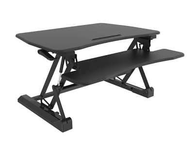 Amer Mounts EZriserPro Sit-Stand Riser Desk Computer with Keyboard & Mouse Deck