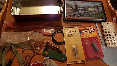 Junk Drawer Lot of Misc Items Mostly Vintage in B&O RR Steam Engine Train Tin