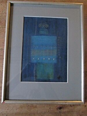 Signed Original Abstract Native American Zuni Watercolor Framed