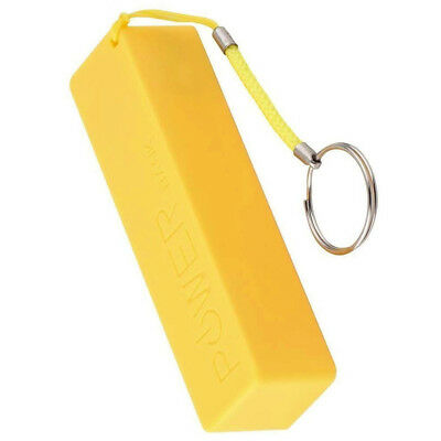 For 1x18650 DIY Portable  Yellow USB Power Bank Charger Pack Box Battery Case