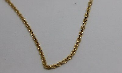 9CT SOLID YELLOW GOLD BELCHER CHAIN NECKLACE 5.2grams 65cm*FREE EXPRESS POST OZ