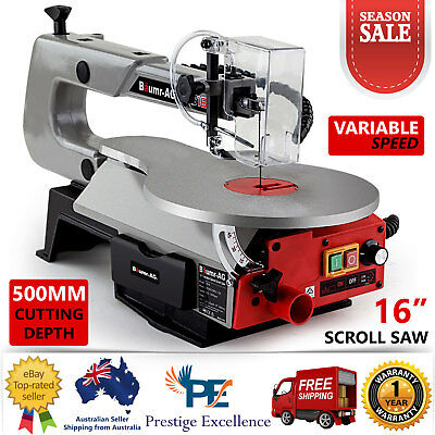 "16"" Variable Speed Scroll Saw - Fret Woodwork Blades Angle Adjustable Table Saws"