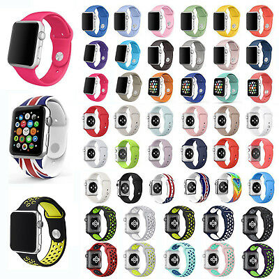 46 color Sports Silicone Strap Bracelet Band Replace For Apple Watch 38/42mm Lot