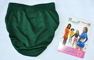 NEW Pizzazz Girl's Medium 8-10  Forest Green Cheer Dance Brief Trunk Underpants