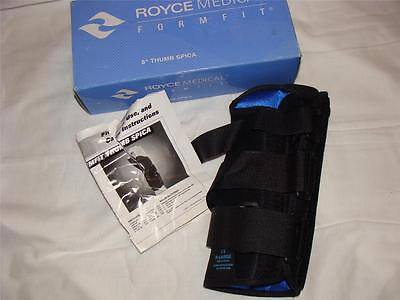 """New Royce 8"""" Thumb Spica Wrist Brace Support Size Xl~ Left Hand ~ Free Us Ship"""