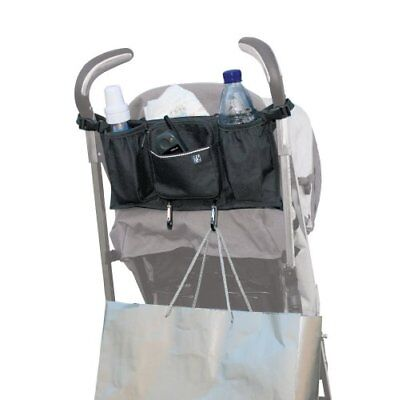 JL Childress Bottles 'N Bags Stroller Organiser for Newborn and Above (Black)