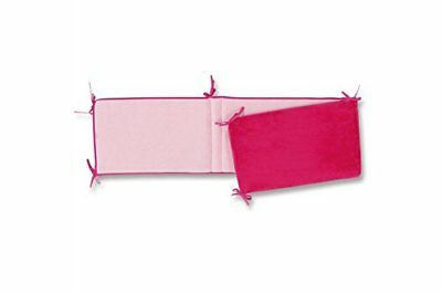Bemini by Baby Boum Tour de lit réversible Softy-Eponge Fuchsia-Candy