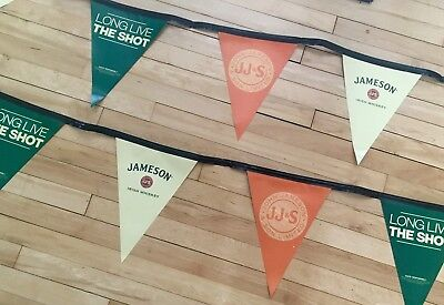 Jameson Irish Whiskey Triangle Pennant String 20 Feet Long New!