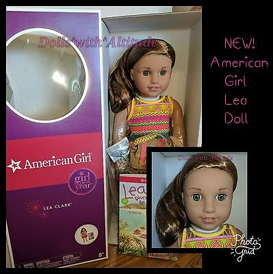AMERICAN GIRL Lea Clark Doll of the Year 2016 with Book Bag Compass NEW IN BOX