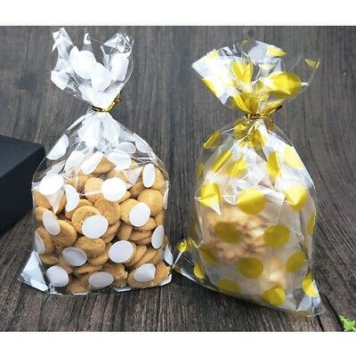 100 Pcs/lot Packaging Bags Cookies DIY Christmas Party Candy Food  Soap Gift