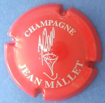 muselet capsule champagne JEAN MALLET an 2000 n°7 rouge