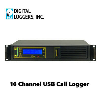 Digital Loggers 16 Channel USB Call Logger Recorder Phone Radio or Microphone