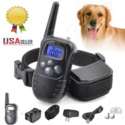 Anti Bark Collar Train LCD Electric Remote Dog Training Shock Collar US STOCK